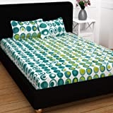 Story@Home Candy 120 TC Cotton Double Bed Sheet with 2 Pillow Covers - Geometric Circles (Geometric) कपास डबल बेडशीट