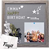 Fuyit Felt Letter Board 12 x 12 inch Soft and Flexible EVA Memo Board for Photo Display with Total 600 Changeable…