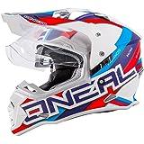 O'Neal Sierra II Helm Circuit weiß blau Motorrad MX Motocross Enduro Offroad Quad, 0817-30
