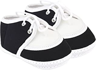 Neska Moda Baby Boys & Girls Lace Black Booties for 0 to 12 Months Infants