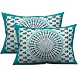 Jaipur Pride Cotton 104 TC Pillow Cover, Standard, Green