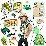 طقم سترة وقبعة كارجو بريميوم إكسبلورر وسفاري من بورن تويز مع لعبة صيد الطبيعة في الهواء الطلق للأطفال إكسبلورر