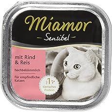 Miamor Sensibel Rind & Reis, 16er Pack (16 x 100 g)