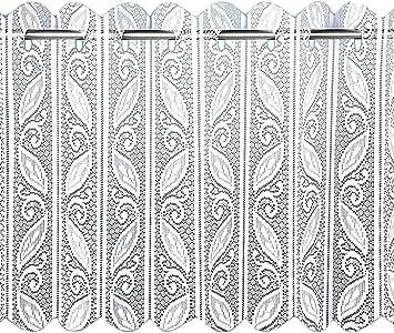style brise-bise//vitrage pliss/é Voilage Louvre l 183 x L 61 cm Filigree Cr/ème