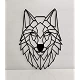WOODEN WOLF WALL ART HOME DECOR (18inches x 13inches)