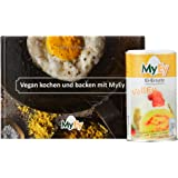 "MyEy-Bundle: Rezeptbuch ""vegan Kochen und Backen mit MyEy"" + 1 Dose VollEy, 200g"