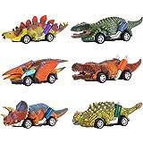 Paquete de 6 Coches de Dinosaurios Juguetes,WolinTek Juego de Juguetes de Dinosaurio para Coche,Juguetes,Juguetes para Niños,