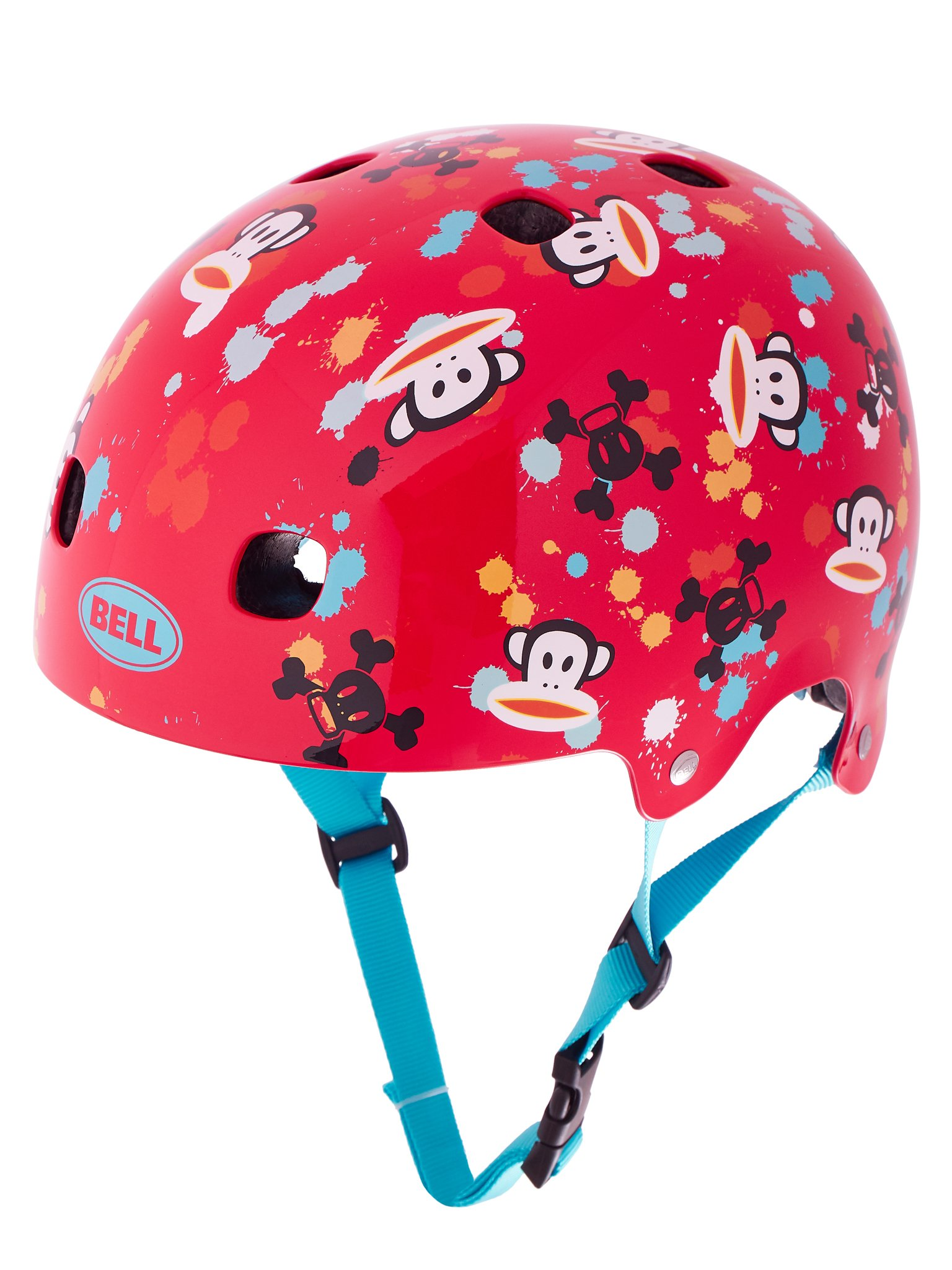 Bell Kinder Fahrradhelm Segment JR, Red Paul Frank Paint Ball, 48-53 cm, 2100930