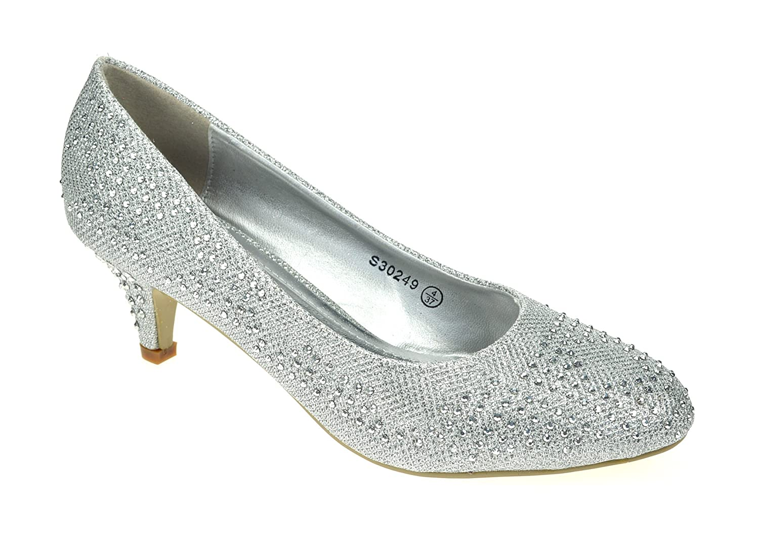 Silver Shoes With Small Heel