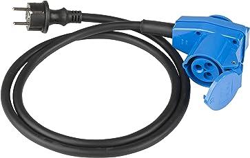 as - Schwabe 60483 Adapterleitung mit Winkelkupplung 230V / 16A / 3polig, 1,5m H07RN-F 3G2,5, IP44 Aussenbereich