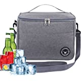 TOPPLAYER Sac Isotherme, Sac Isotherme Repas, Panier Repas, Sac Glacière Isotherme Pliable Lunch Bag Portable en Tissu Imperm