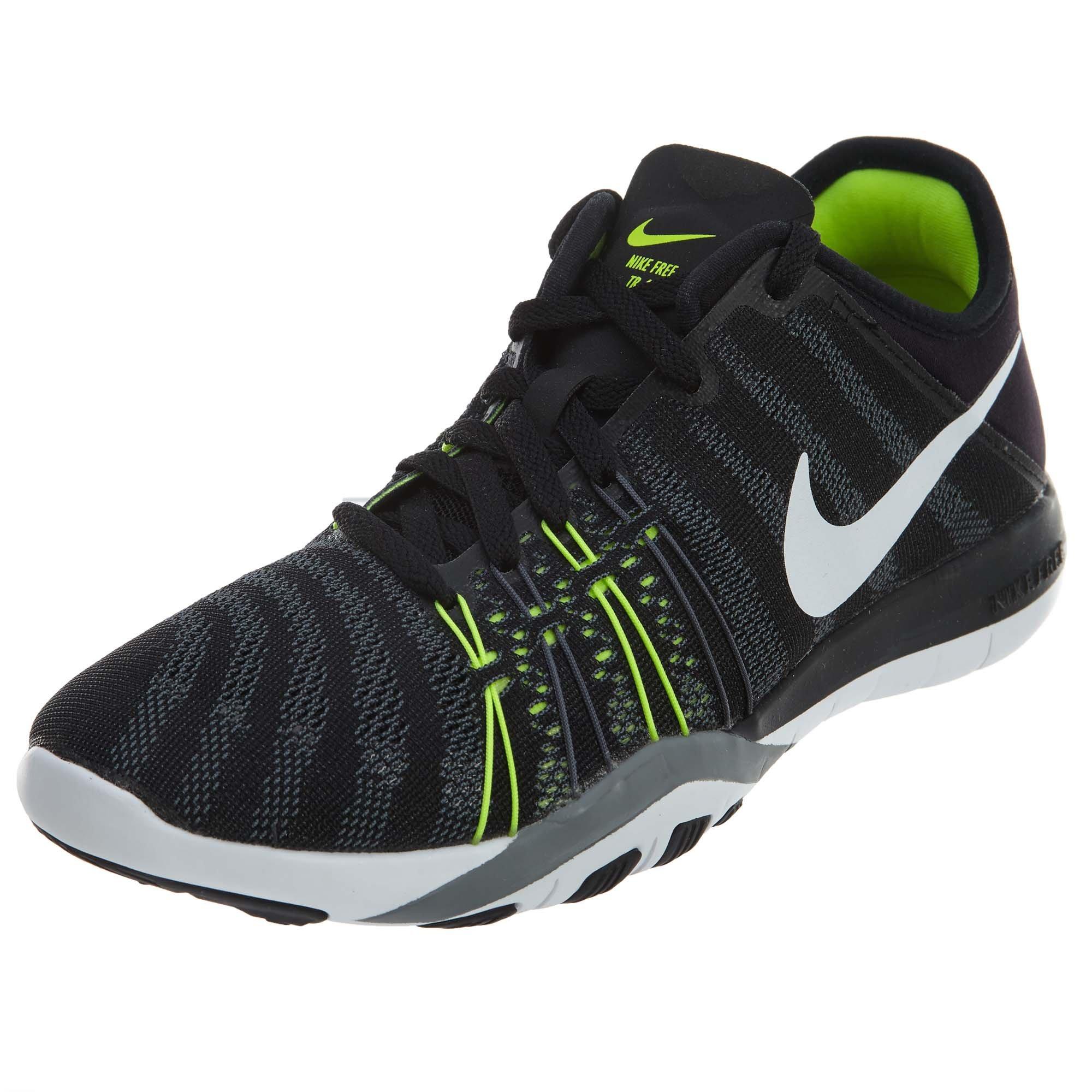 6177e76ecf27a Nike Damen Free Trainer 6 Hallenschuhe Schwarz (Black White-Cool ...
