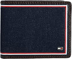 Tommy Hilfiger Men's Leather Credit Wallet Passcase Billfold RFID 31TL220103