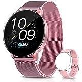 AIMIUVEI Smartwatch Mujer, 1.3 Inch Reloj InteligenteMujer con Pulsómetro, Monitor de Oxígeno de Sangre y Sueño Calorías, Pr