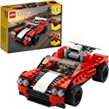 LEGO 31100 Creator 3in1 Sports Car - Hot Rod - Plane Building Set, Toys for 7+ Years Old Boys and Girls