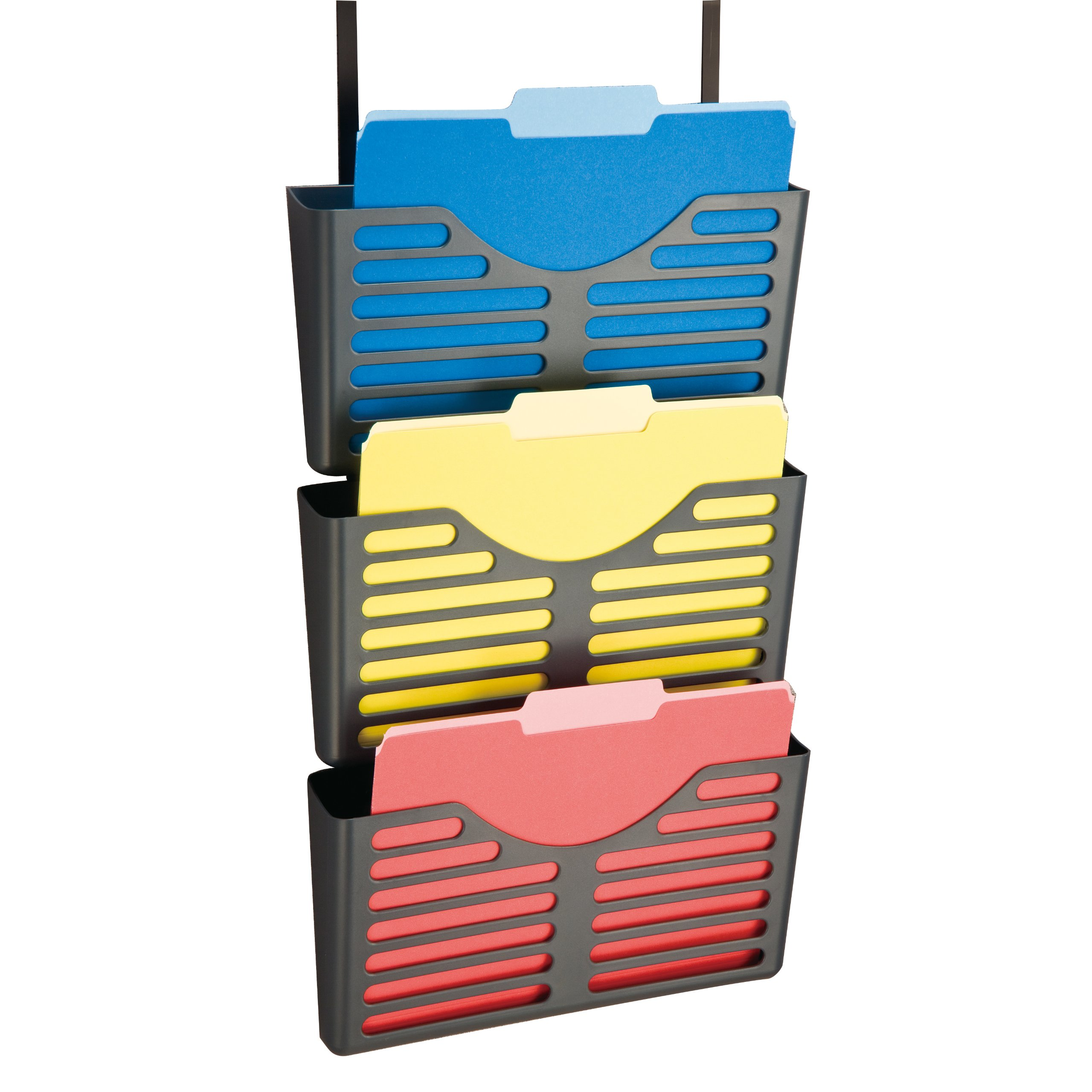 Officemate Verticalmate file Pocket con gancio, colore grigio, 3pezzi (29314)