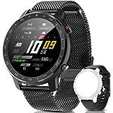 IYAQILEHE Smartwatch, Reloj Inteligente IP67 Pantalla Táctil Completa Pulsómetro Presión Arterial Monitor de Sueño 8 Modos De