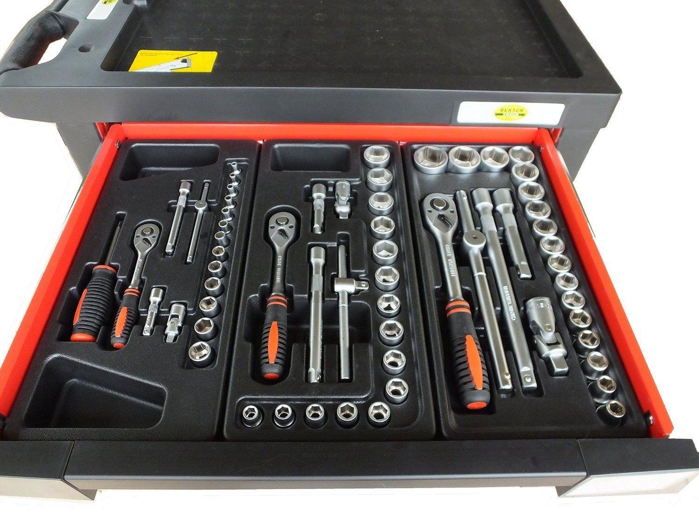 Bensontools Werkstattwagen bestückt (6333), 542 teilig, 7 Schubladen mit Werkzeug