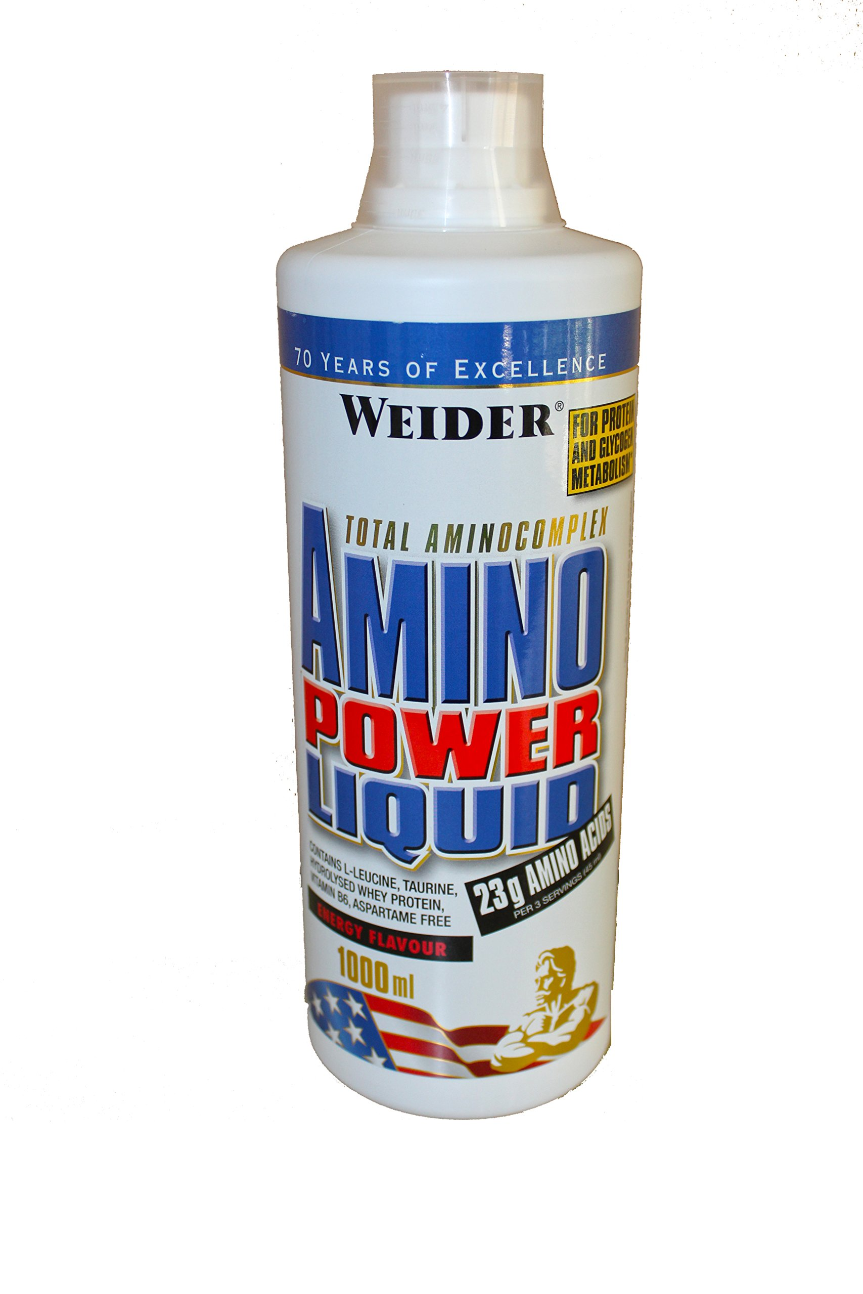 81WxnrvFF7L - Weider Amino Power Liquid 1L Energy, Essential Amino Acids, L-leucine, Free Taurine, Vitamin B8