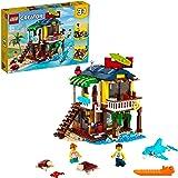 LEGO 31118 Creator 3in1 Surfer Strandhuis, Vuurtoren & Poolhouse Zomer Bouwset Voor Kinderen van 8+, Creatief Cadeau-idee