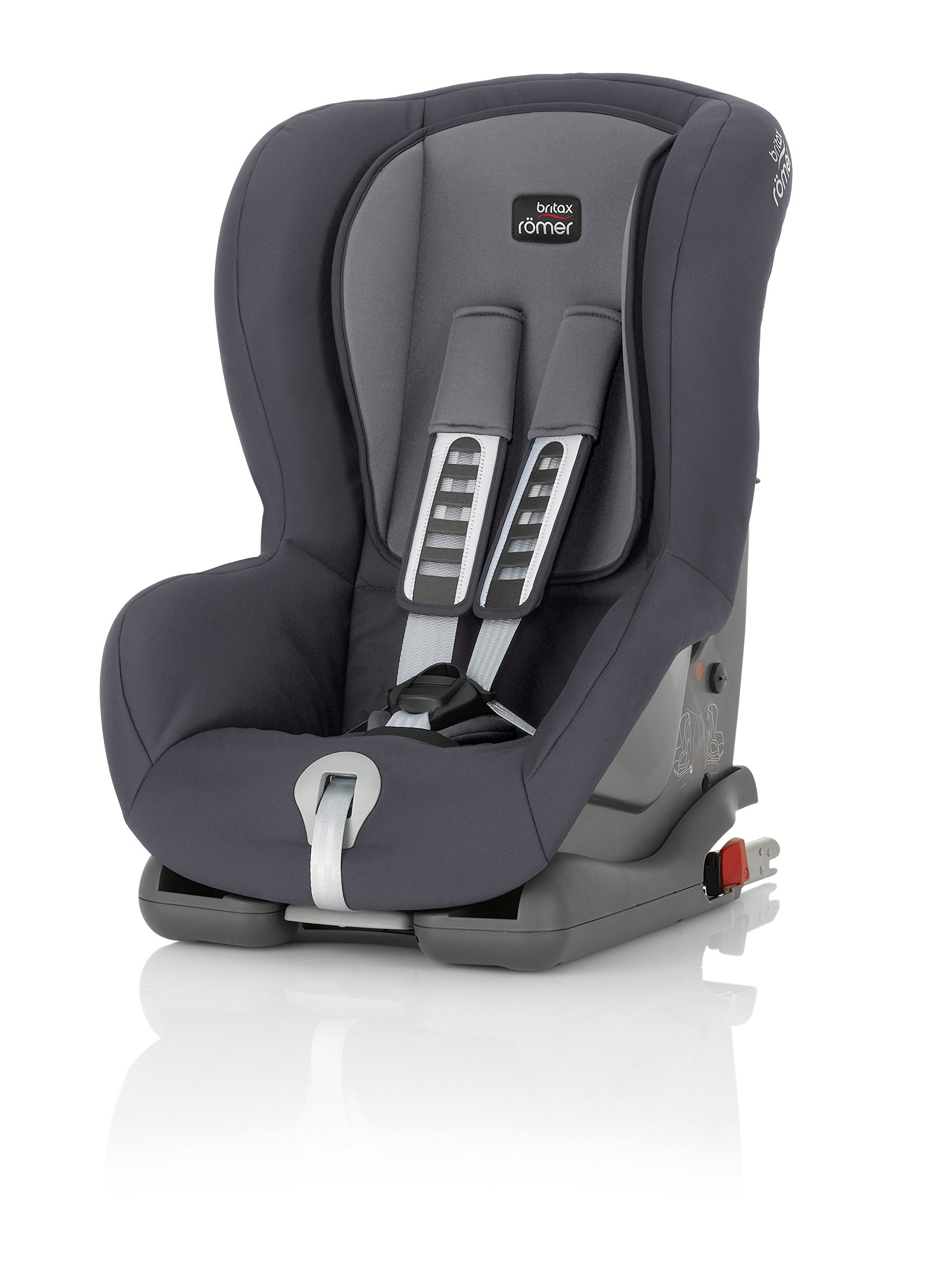 Britax Römer DUO PLUS Group 1 (9-18kg) Car Seat & DUO PLUS Top Tether Kit - Storm Grey Britax Römer This versatile car seat can be installed with the 3-point seat belt or ISOFIX and Top Tether (Top Tether Included) Comfort without compromise - deep, padded side wings and multi-position recline Pivot link system to reduce forward movement in the event of an accident 2