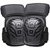 Professional Knee Pads for Work, Preciva Heavy Duty Gel Cushion and Foam Padding Knee Pads with Anti-Slip Straps and Easy-Fix