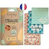 L'Embeillage®, Le Bee Wrap français - Emballage Alimentaire réutilisable - Fabriqué en France, Bio et 100% Naturel en Cire d'