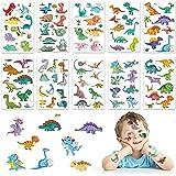 GUBOOM tattoo kinderen, 10 vellen Dinosaurus kinderen tatoeages set, waterdichte kindertatoeages dinosaurus, huidvriendelijke