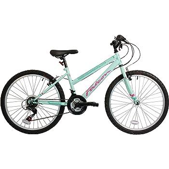 FalconAurora Kids\' Mountain Bike Green/Pink, 13\
