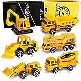 XDDIAS Mini Modelos de construcción, 6 Pcs Aleación Modelo Camiones de Juguete, Diecast Metal Vehículos de Coches Camión Exca