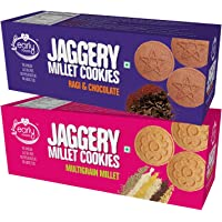 Early Foods - Assorted Pack of 2 - Multigrain Millet & Ragi Choco Jaggery Cookies X 2