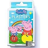 Peppa Pig Tiritas Para Niños / x22 / 4 Tamaños / 7 Diseños / Sin Látex / Hipoalergénico / Resistente Al Lavado