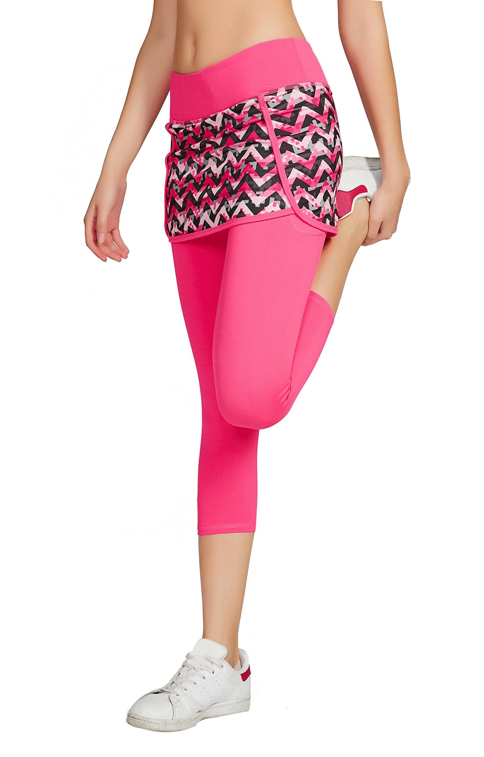 classic online retailer cheap for discount Slimour Legging Jupe de Tennis Femme 2 en 1 Jupe Sport à la Mode
