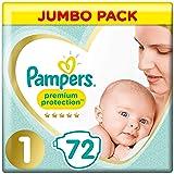 Pampers Premium Protection Softest Comfort Windeln, Jumbo-Pack, zugelassen von British Skin Foundation, Größe 1, 144…