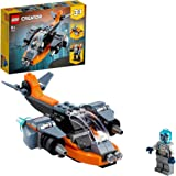 LEGO 31111 Creator 3in1 Cyberdrone Bouwset met Cybermecha en Scooter met Robot Minifiguur, Ruimtespeelgoed vanaf 6 Jaar