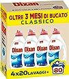 Dixan Classico Detersivo Liquido Lavatrice, Tecnologia Pulito Profondo, 80 Lavaggi