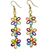 Designers Collection Paper Quilling Ear Rings for Women DSERB005