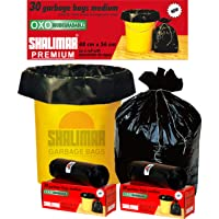 Shalimar Premium OXO - Biodegradable Garbage Bags (Medium) Size 48 cm x 56 cm 6 Rolls (180 Bags) (Black Colour)
