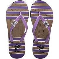 AAS Summer Beach Flip Flop   Sandals   Purple   Sizes UK 2 3 4 & 5