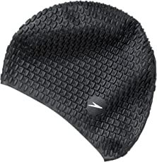 Speedo Bubble Swimcap (Black)
