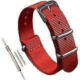 MZBUTIQ Bracelets de Montres Nylon Strap Boucle Polie(10-24mm)