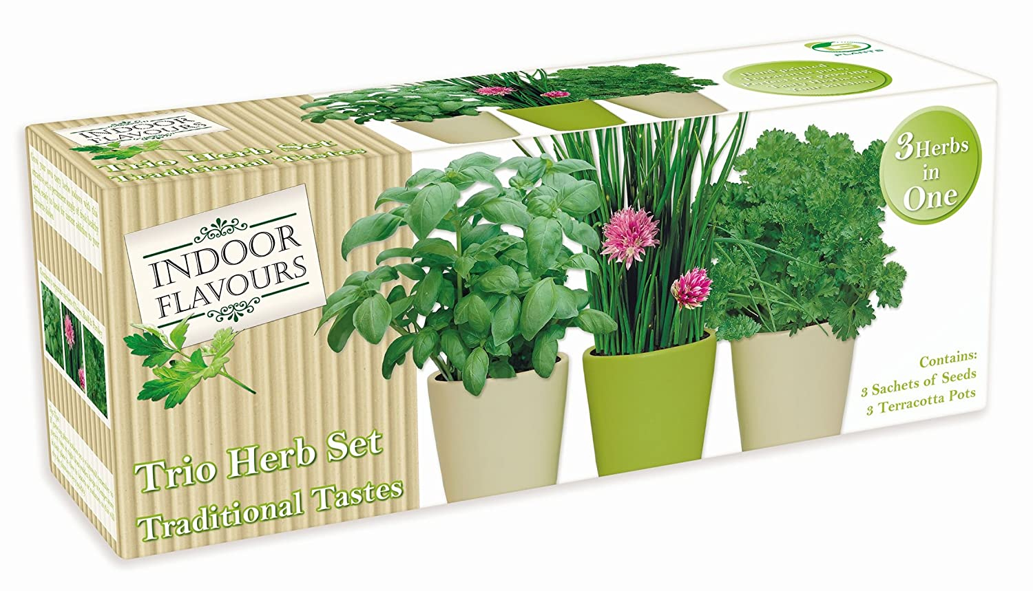 Unwins Kitchen Garden Herb Kit Indoor Herb Garden Seed Kit Gift Grow Your Own Box Trio Herb