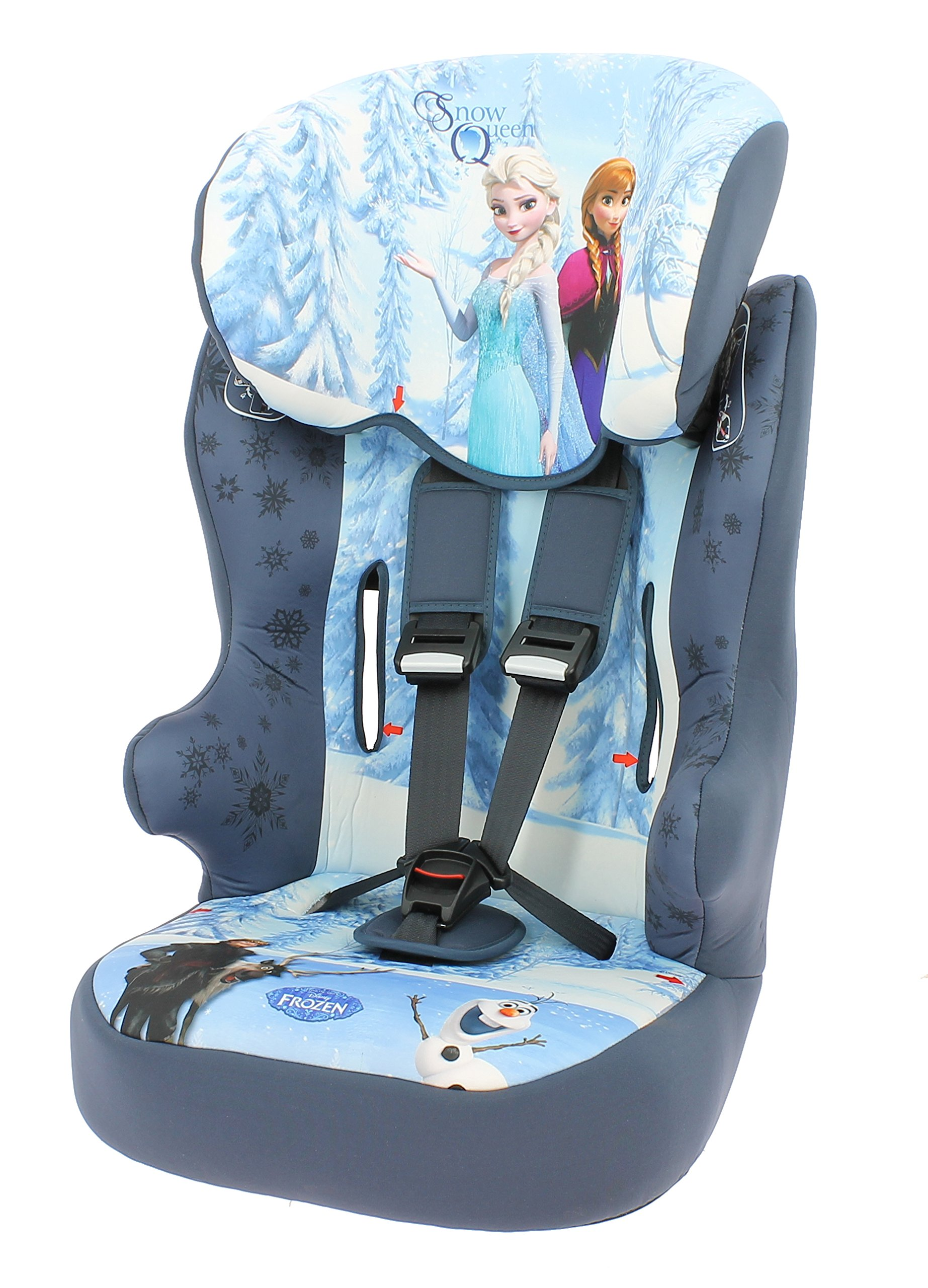 Racer Car Seat for Kids, Group 1/2/3 (9 to 36 kg), Disney Frozen  Lightweight, portable and secured car seat Side impact protection Individual harness tensioners 1