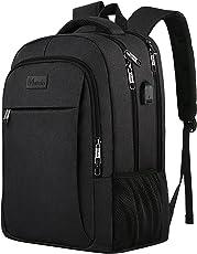 Business Laptop Rucksack, wasserabweisend Daypack-Schwarz