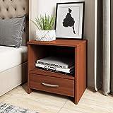 Amazon Brand - Solimo Antares Engineered Wood Contemporary Bedside Table (Caramel Mahogany)