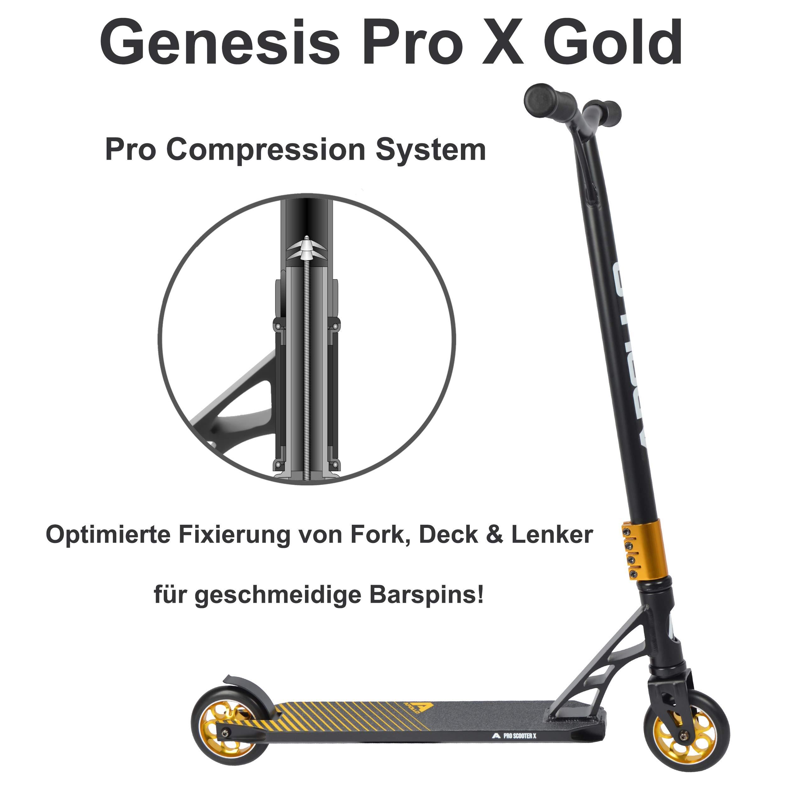 "Apollo Stunt Scooter /""Genesis Pro X/"" Kickscooter mit ABEC 9 Kugellager"
