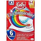 Grey L'Acchiappacolore Fogli Cattura Colore Lavatrice Evita Incidenti Lavaggio, Foglietti Acchiappacolore e Anti-Sporco…