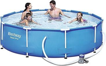 Bestway Steel Pro Frame Pool Set rund, mit Kartuschenfilterpumpe, 305x76 cm, blau