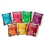 Popcorn Shed Luxe Popcorn Proefpakket, 7 unieke popcorn smaken in handige snackpacks, Perfect om cadeau te geven of zelf te s