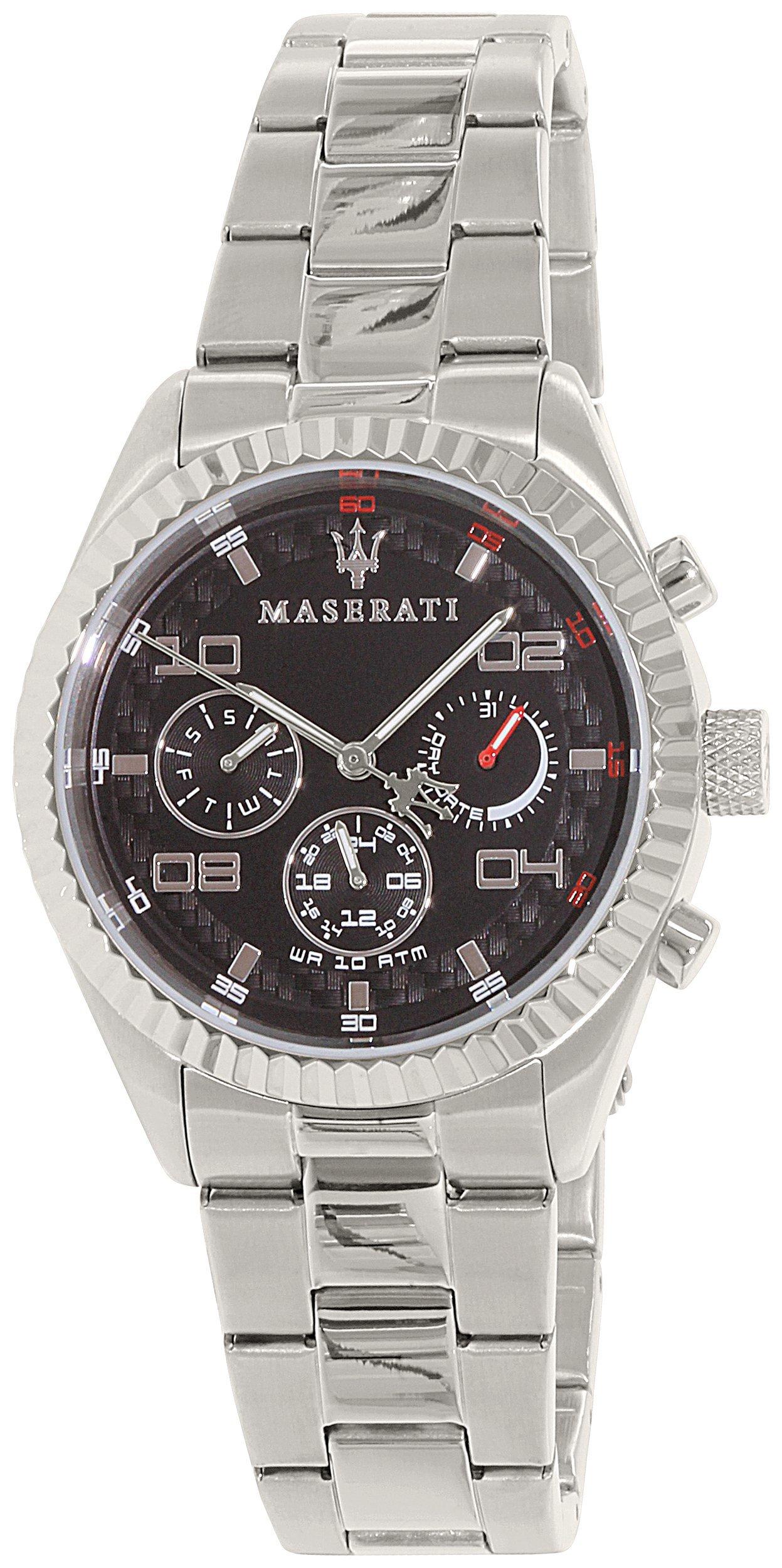 Reloj MASERATI – Hombre, pulsera de cuarzo de la fecha clásica, acero inoxidable, R8853100012